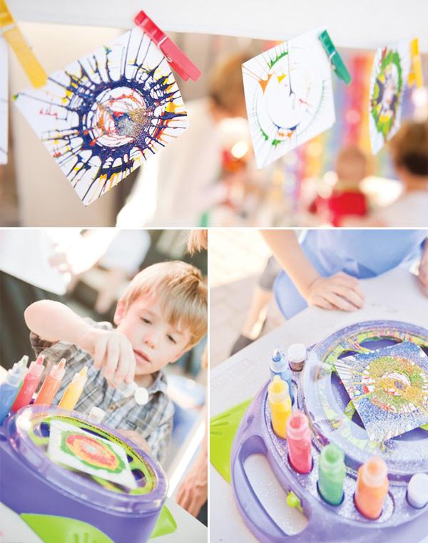 rainbow-paint-party-spin-art
